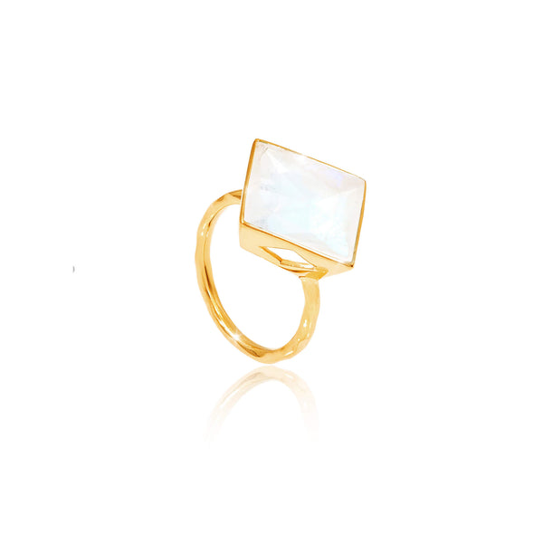 Paradigm Large Moonstone Cocktail Ring - Auren Jewellery