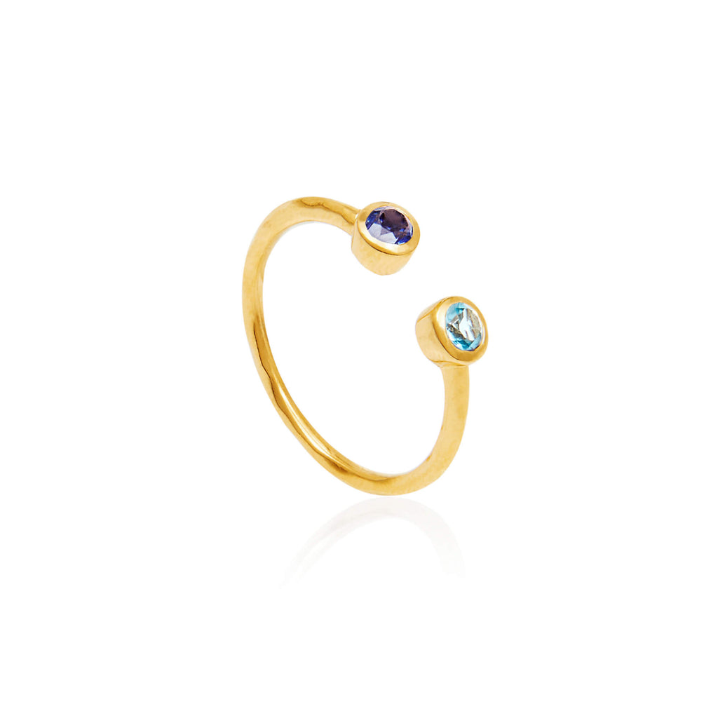 Falling Stars Gemstone Ring