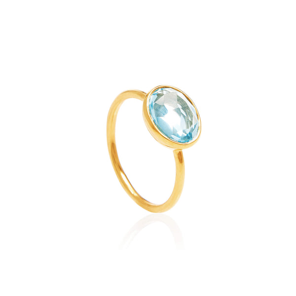 Ceara Blue Topaz Ring - Auren Jewellery