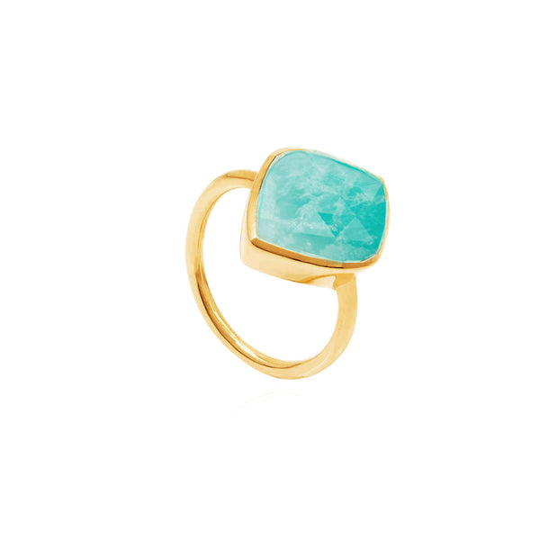 Electric Skies Amazonite Ring - Auren Jewellery