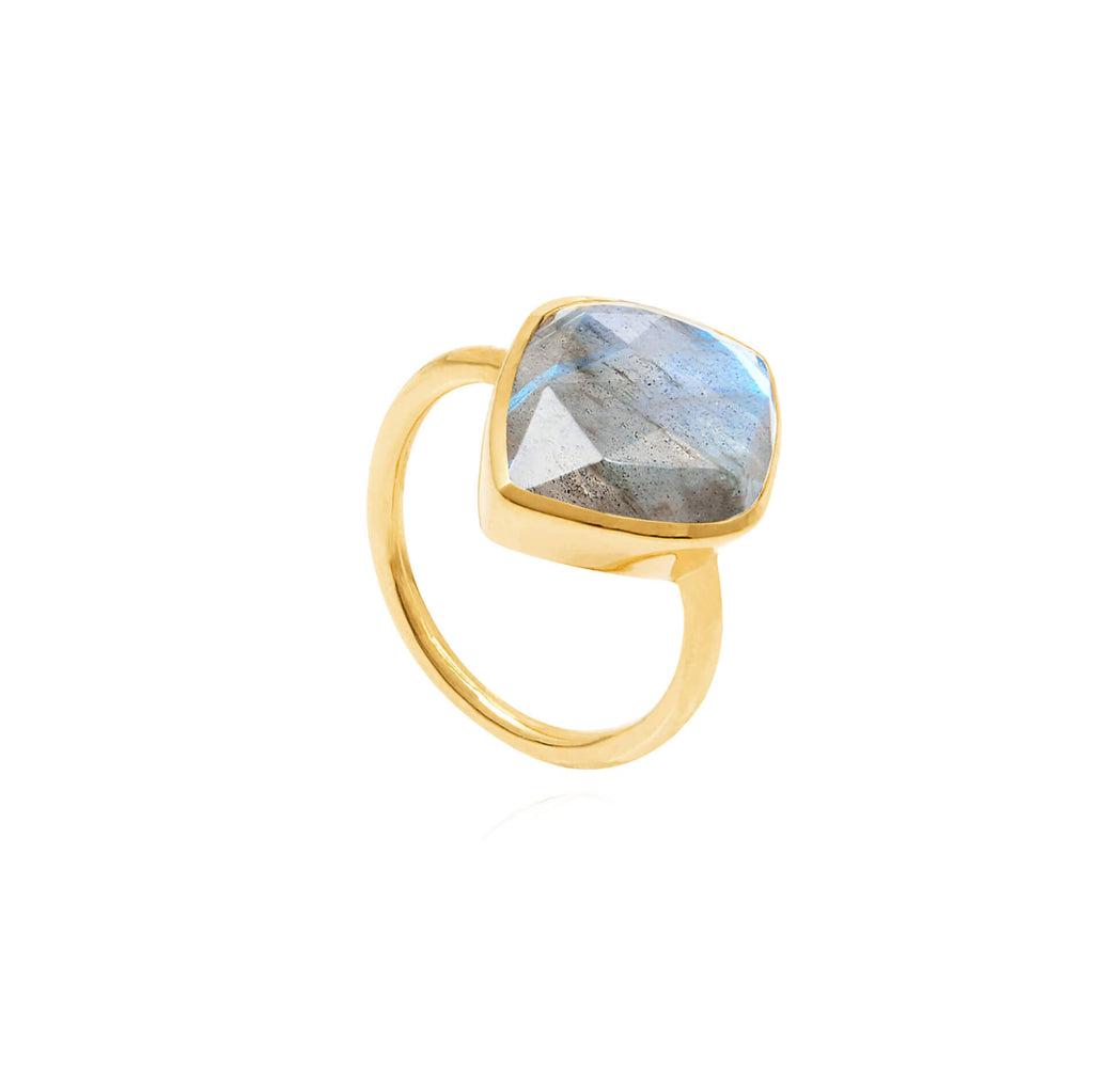 Electric Skies Labradorite Ring