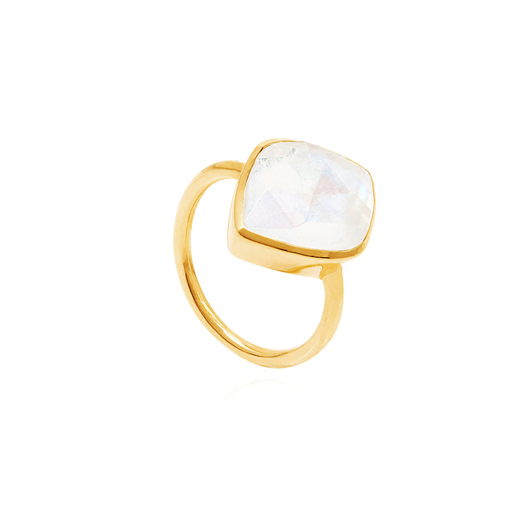Electric Skies Moonstone Ring