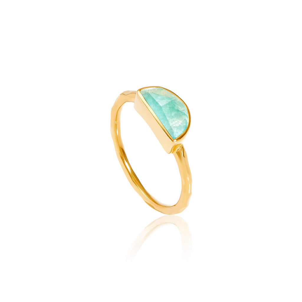Lunar Amazonite Ring - Auren Jewellery