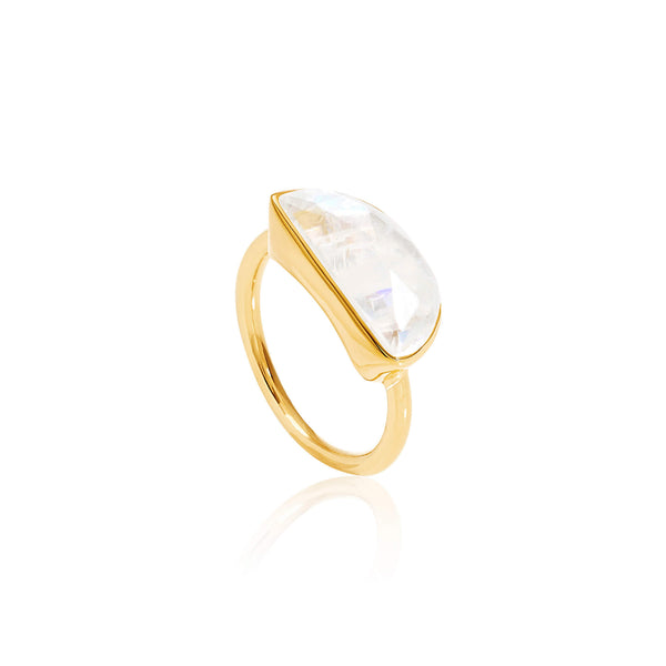 Midnight Moonstone Ring - Auren Jewellery