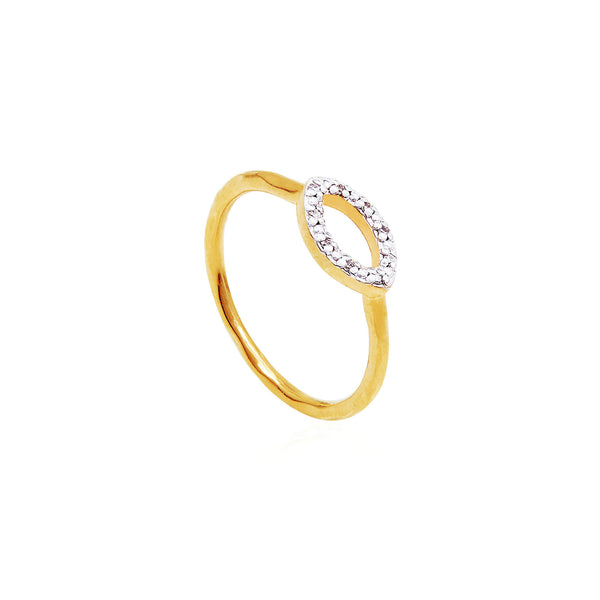 Marquis Diamond Pave Ring - Auren Jewellery