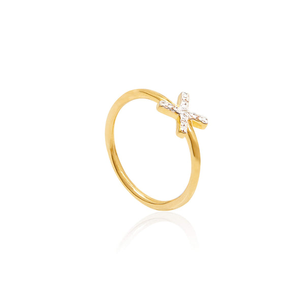 Kiss Diamond Pave Ring - Auren Jewellery