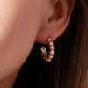 Sequence Pearl Small Hoop Earrings - Auren Jewellery