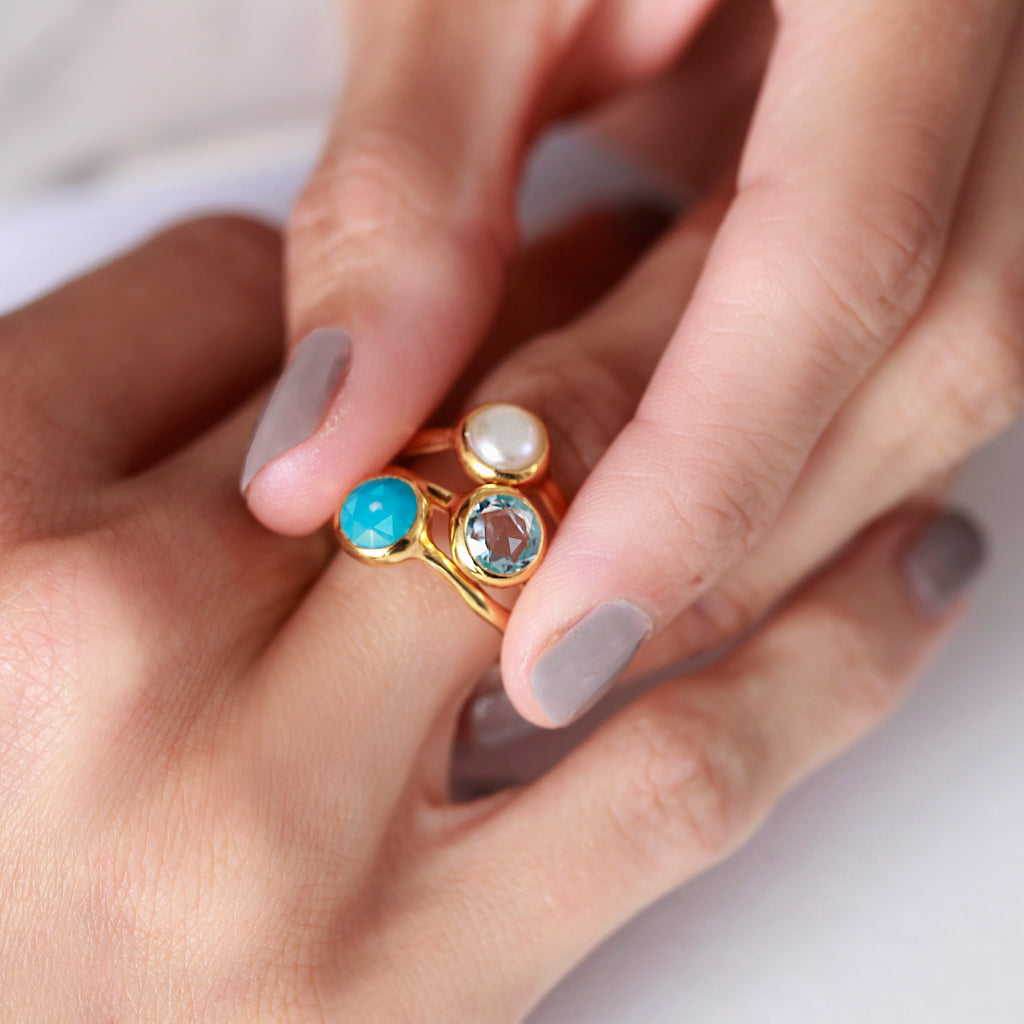 Pearl June Birthstone Ring - Auren Jewellery