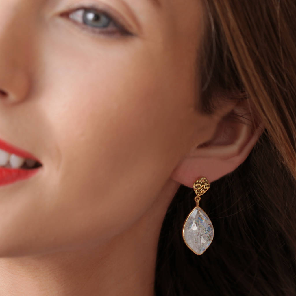 Nuvole Moonstone Earrings - Auren Jewellery