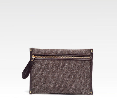 Docket Zip Pouch, Herdwyck Tweed