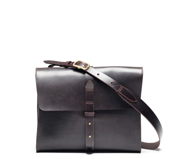 Norwich Satchel L, Waxed Leather