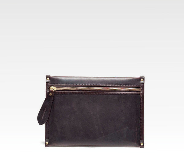 Docket Zip Pouch, Waxed Leather