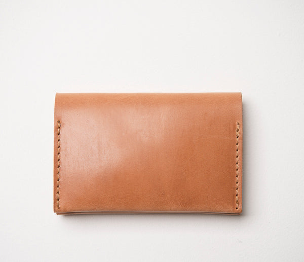 Simple Bifold Wallet, Bridle Leather