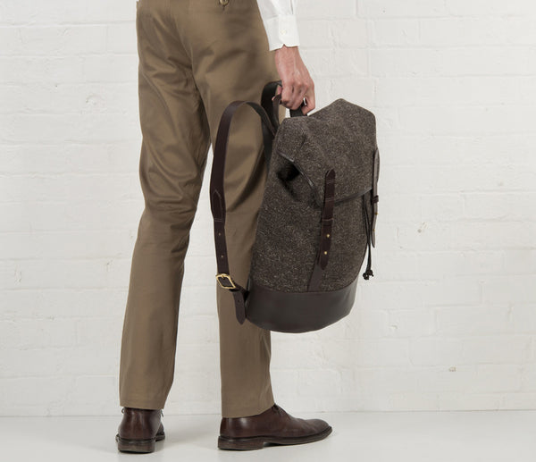 Black Sail Rucksack, Herdwyck Tweed