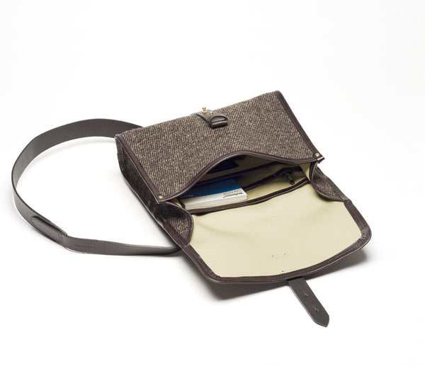 Norwich Satchel M, Herdwyck Tweed