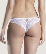 Aubade 'Au Bal de Flore' (White) Thong - Sandra Dee - Model Shot - Rear