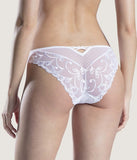 Aubade 'Au Bal de Flore' (White) Italian Brief - Sandra Dee - Model Shot - Rear