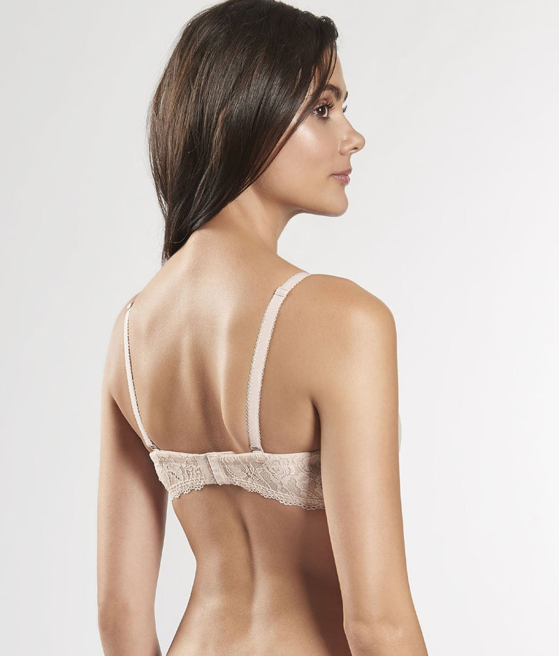 Aubade 'Lysessence' (Nude d'Été) Moulded Strapless Bra - Sandra Dee - Model Shot - Rear