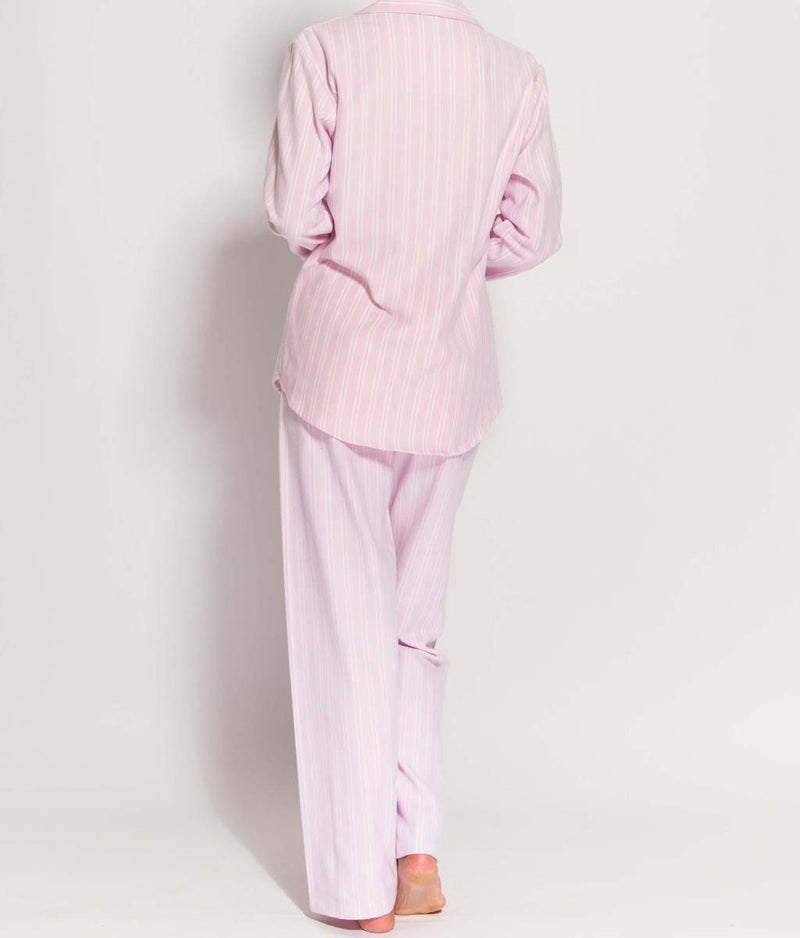 British Boxers Two-Fold Flannel (Westwood Pink Stripe) Pyjamas - Sandra Dee - Product Shot - Rear