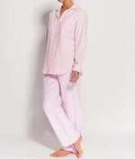 British Boxers Two-Fold Flannel (Westwood Pink Stripe) Pyjamas - Sandra Dee - Product Shot - Front