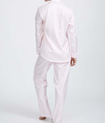 British Boxers Two-Fold Herringbone (Rosewater Pink) Pyjamas - Sandra Dee - Product Shot - Rear