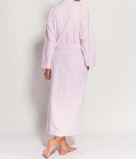 British Boxers Two-Fold Flannel (Westwood Pink Stripe) Robe - Sandra Dee - Product Shot - Rear