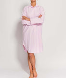 British Boxers Two-Fold Flannel (Westwood Pink Stripe) Nightshirt - Sandra Dee - Product Shot - Front