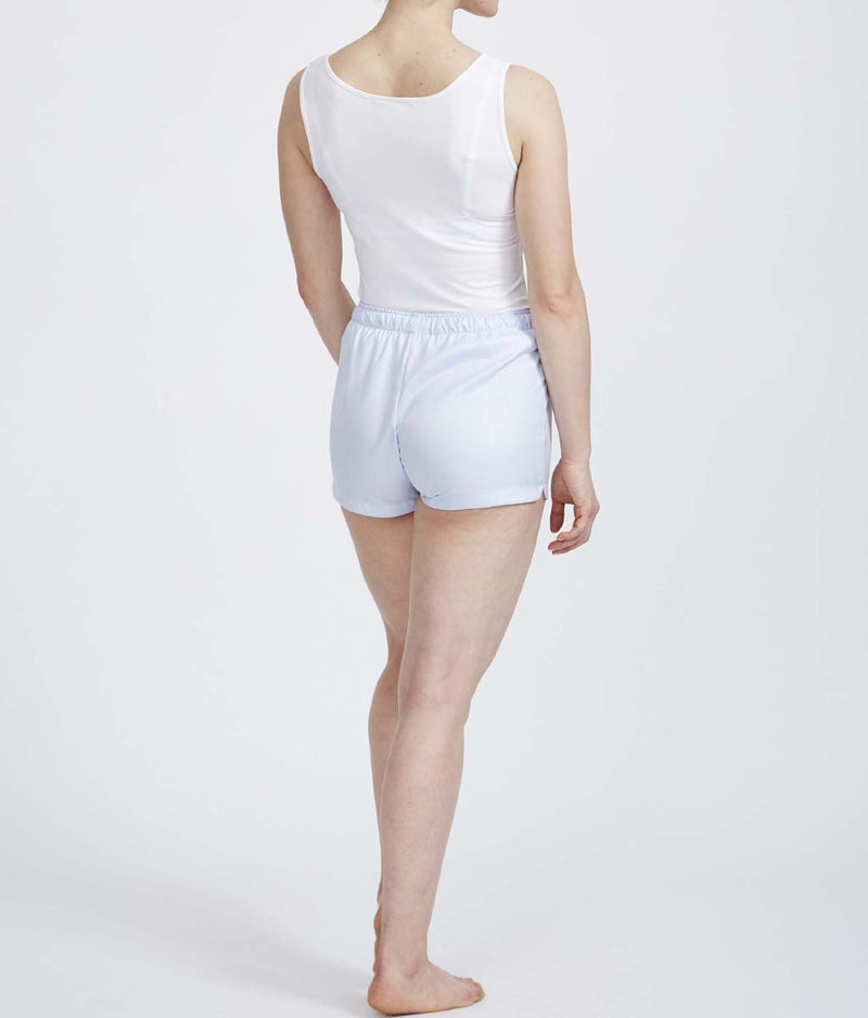 British Boxers Two-Fold Herringbone (Pearl Blue) Pyjama Shorts - Sandra Dee - Product Shot - Rear