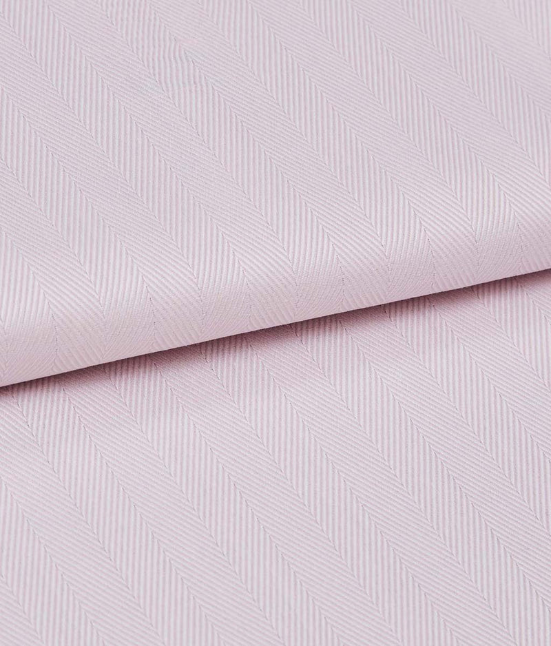 British Boxers Two-Fold Herringbone (Rosewater Pink) Pyjamas - Sandra Dee - Product Shot - Fabric Swatch