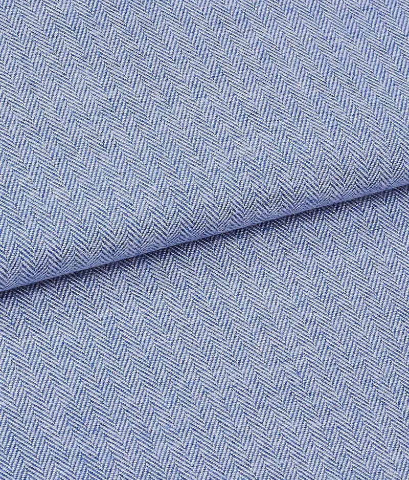 British Boxers Two-Fold Herringbone (Staffordshire Blue) Nightshirt - Sandra Dee - Product Shot - Fabric Swatch