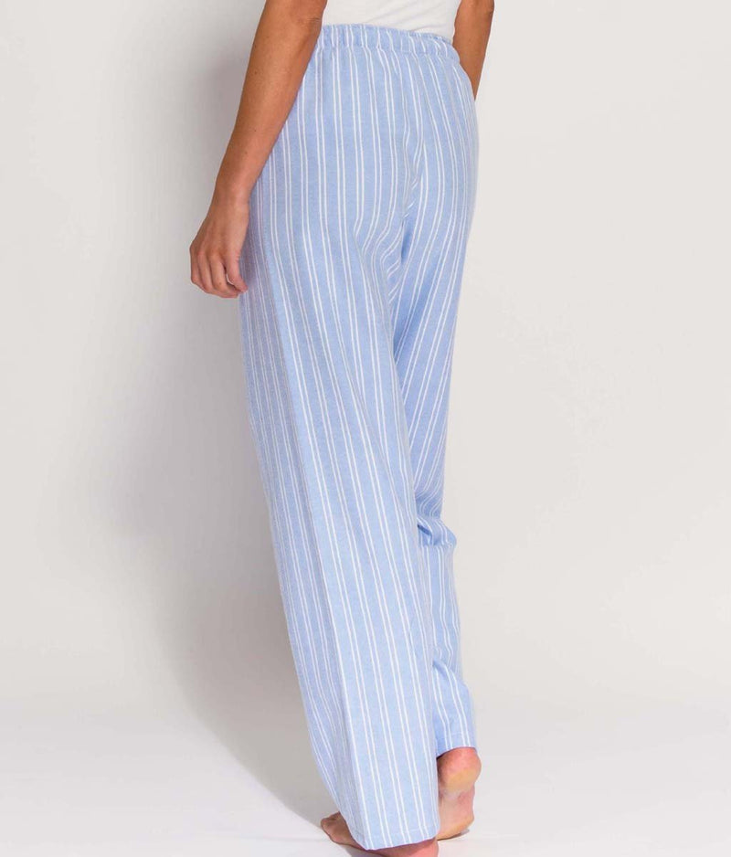 British Boxers Two-Fold Flannel (Westwood Blue Stripe) Pyjama Trousers - Sandra Dee - Product Shot - Rear