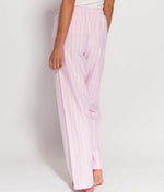British Boxers Two-Fold Flannel (Westwood Pink Stripe) Pyjama Trousers - Sandra Dee - Product Shot - Rear