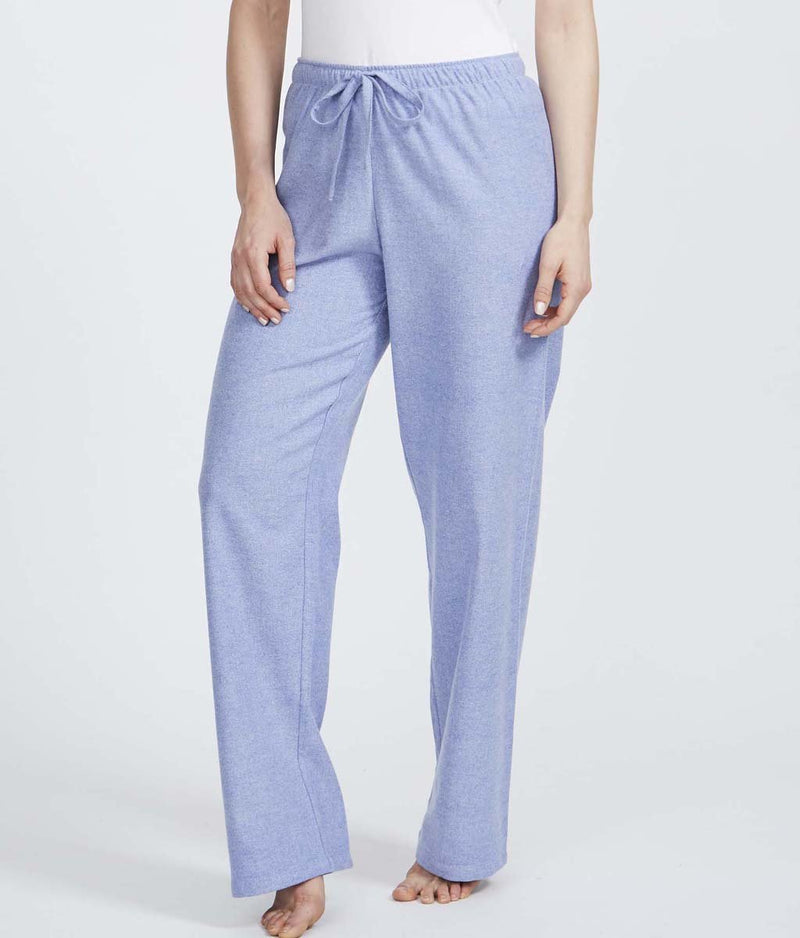 British Boxers Two-Fold Herringbone (Staffordshire Blue) Pyjama Trousers - Sandra Dee - Product Shot - Front