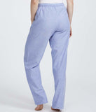 British Boxers Two-Fold Herringbone (Staffordshire Blue) Pyjama Trousers - Sandra Dee - Product Shot - Rear