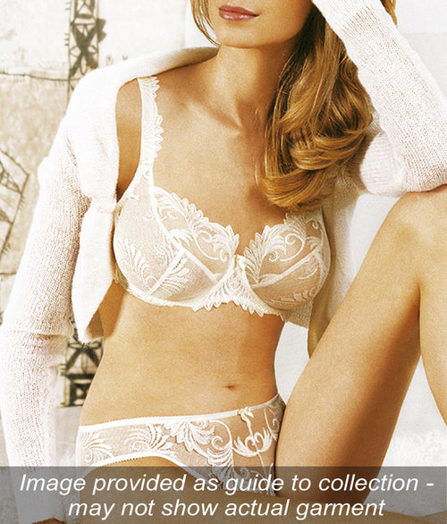 Empreinte 'Thalia' (Ivory/Perle) Low-Necked Bra - Sandra Dee - Collection Publicity Shot