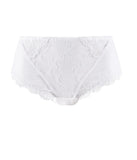 Eprise 'Guipure Charming' (White) Full Brief/Retro Brief - Sandra Dee - Product Shot - Front