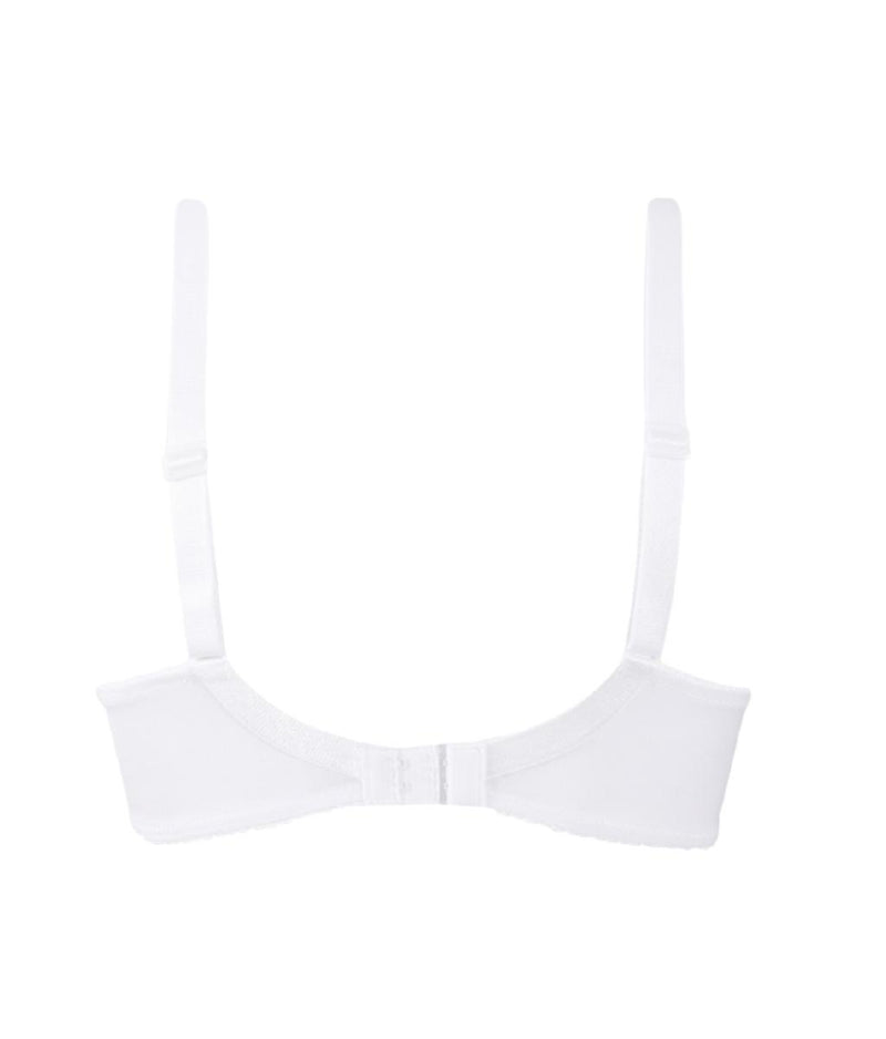 Eprise 'Guipure Charming' (White) 3 Part Full Cup Bra - Sandra Dee - Product Shot - Rear