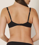 L'Aventure 'Arne' (Black) Padded Plunge Bra (Heart Shape) - Sandra Dee - Model Shot - Rear