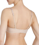 L'Aventure 'Tom' (Caffé Latte) Padded Plunge Bra - Sandra Dee - Model Shot - Rear