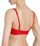 L'Aventure 'Tom' (Scarlet) Padded Plunge Bra - Sandra Dee - Model Shot - Rear