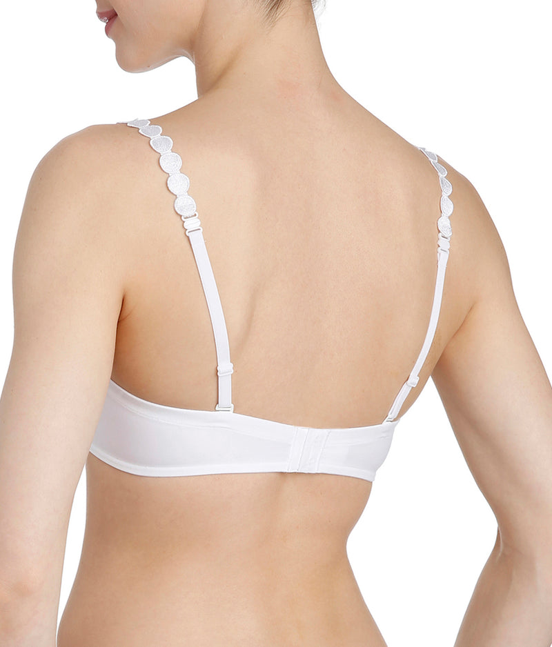 L'Aventure 'Tom' (White) Padded Plunge Bra - Sandra Dee - Model Shot - Rear