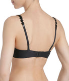 L'Aventure 'Tom' (Charcoal) Padded Plunge Bra (Heart Shape) - Sandra Dee - Model Shot - Rear