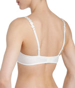 L'Aventure 'Tom' (Natural) Padded Plunge Bra (Heart Shape) - Sandra Dee - Model Shot - Rear