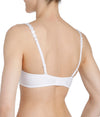 L'Aventure 'Tom' (White) Padded Plunge Bra (Heart Shape) - Sandra Dee - Model Shot - Rear