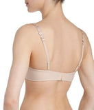 L'Aventure 'Tom' (Caffé Latte) Push-Up Plunge Bra - Sandra Dee - Model Shot - Rear