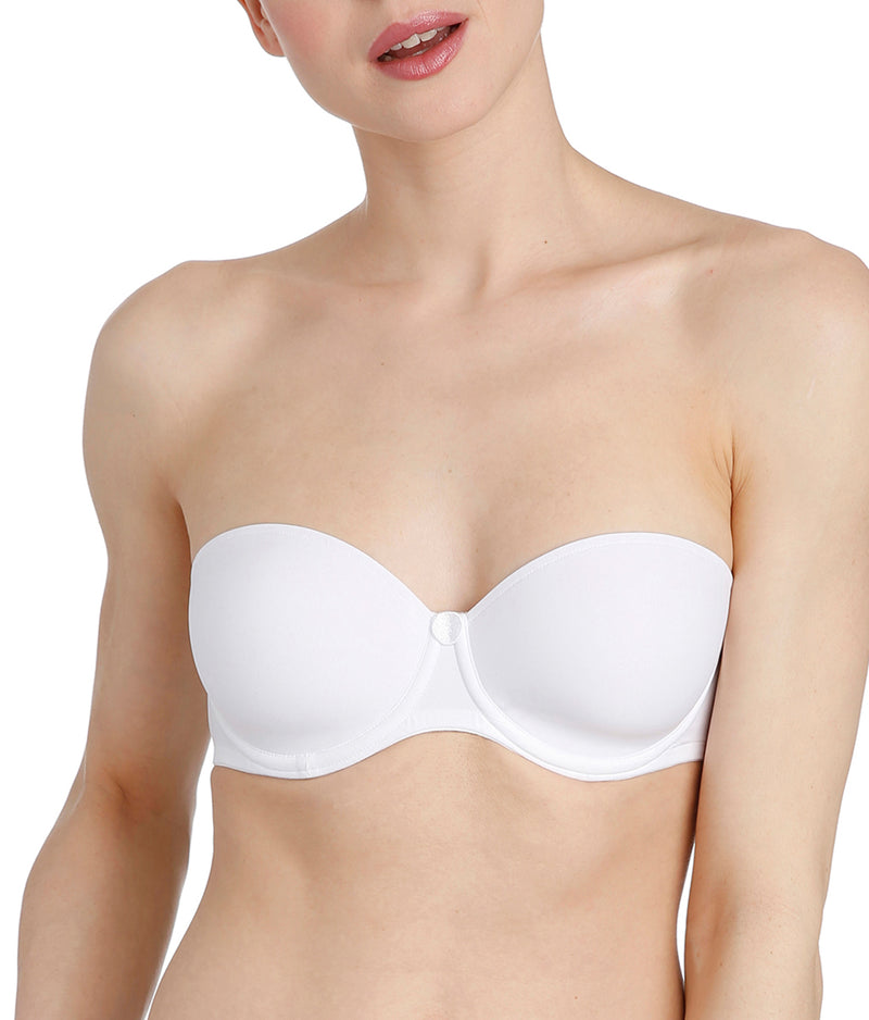 L'Aventure 'Tom' (White) Strapless Bra - Sandra Dee - Model Shot - Front - Strapless