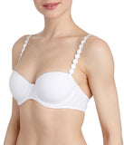 L'Aventure 'Tom' (White) Padded Balconnet Bra - Sandra Dee - Model Shot - Side