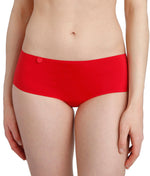 L'Aventure 'Tom' (Scarlet) Seamless Shorts - Sandra Dee - Model Shot - Front