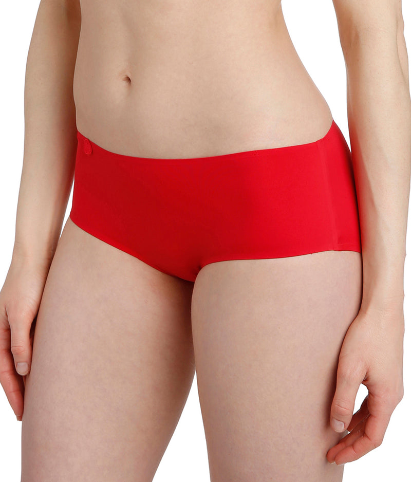 L'Aventure 'Tom' (Scarlet) Seamless Shorts - Sandra Dee - Model Shot - Side