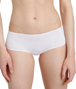 L'Aventure 'Tom' (White) Seamless Shorts - Sandra Dee - Model Shot - Front